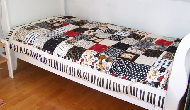 housse de couette musique. Black Bedroom Furniture Sets. Home Design Ideas